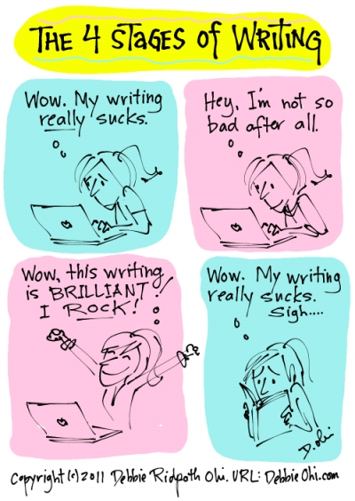 4 stages of writing