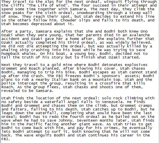 boring ass point break remake summary